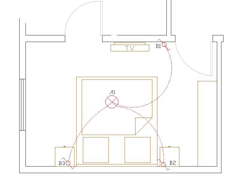 Проходные выключатели. управление с помощью проходных выключателей