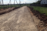 Дорожное строительство. Подъездная дорога к коттеджному посёлку