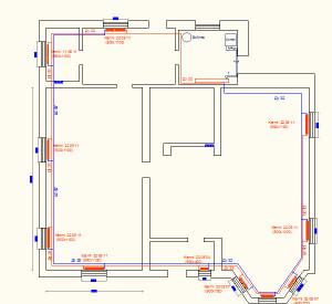 План расстановки радиаторов первого этажа