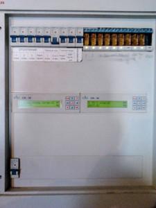 Щит автоматики управления отопления на 2-х контроллерах.