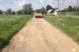 Дорожное строительство. Старая грунтовая дорога.