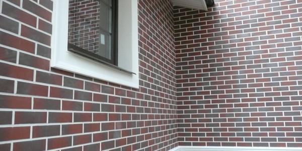 Фасад дома с клинкерной плиткой
