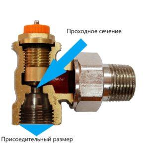 Термостатический клапан радиатора.